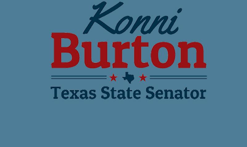 SENATOR KONNI BURTON WELCOMES DEMOCRATIC OPPONENT TO THE RACE FOR SENATE DISTRICT 10