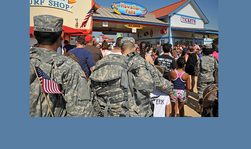 MILITARY MEMBERS & VETERANS FREE OPENING WEEKEND AT HAWAIIAN FALLS