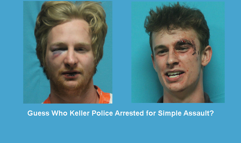 You are probably thinking both were guilty of Assault....but one was for Public Intoxication~!