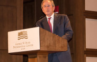 President George Bush Surprise Guest Last Night For Dana Perino