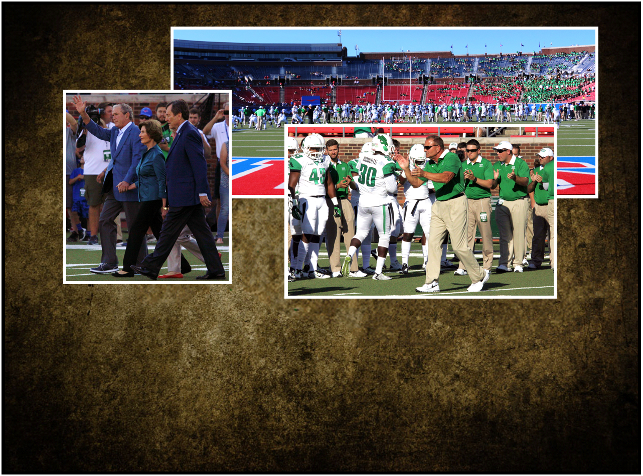 Former President George Bush at North Texas - SMU Game