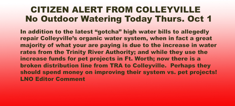 Broken Distribution Line from TRA to Colleyville