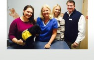 COLLEYVILLE'S DR. SUSAN READ PROVIDES CARE FOR FUTURE ASSISTANCE DOG,