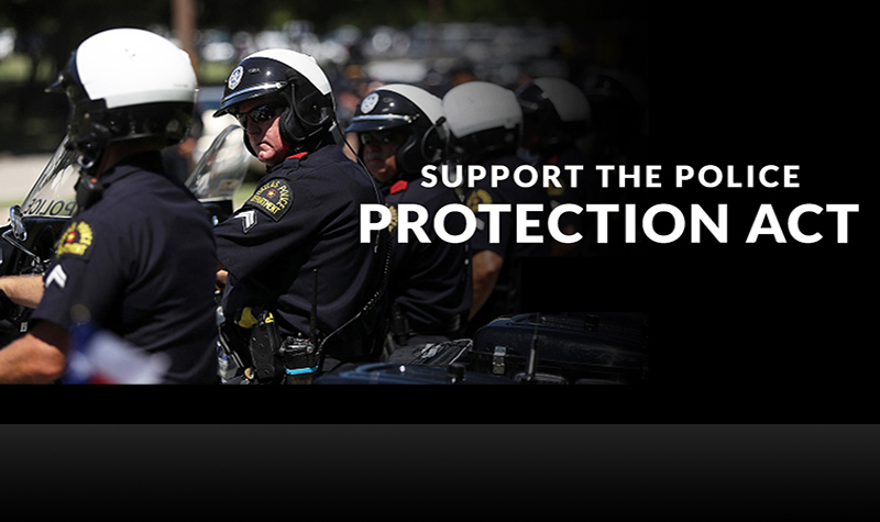 Governor Greg Abbott announced an effort to strengthen penalties for crimes committed against law enforcement officers – the Police Protection Act.