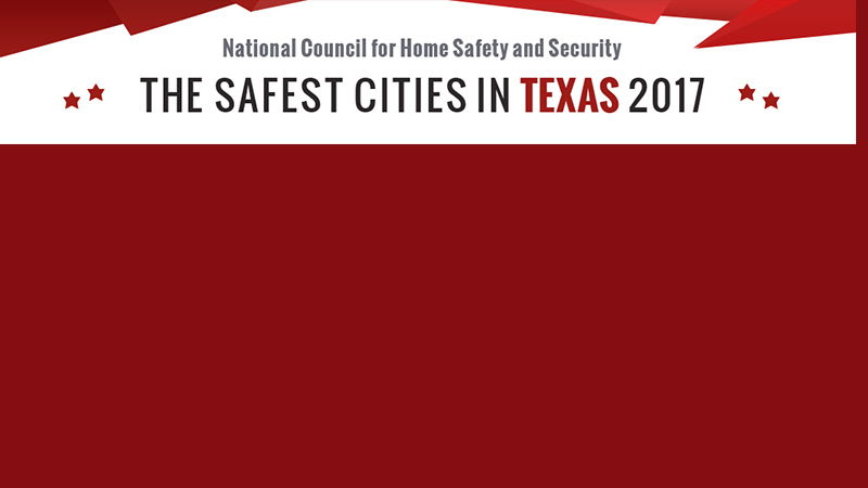 Trophy Club -2nd, Colleyville, 3rd, Keller 14th, Southlake 26th in top 50 Safest Cities in Texas for 2017