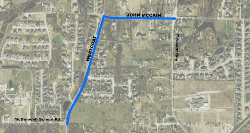 Westcoat Drive and John McCain construction begins in Colleyville