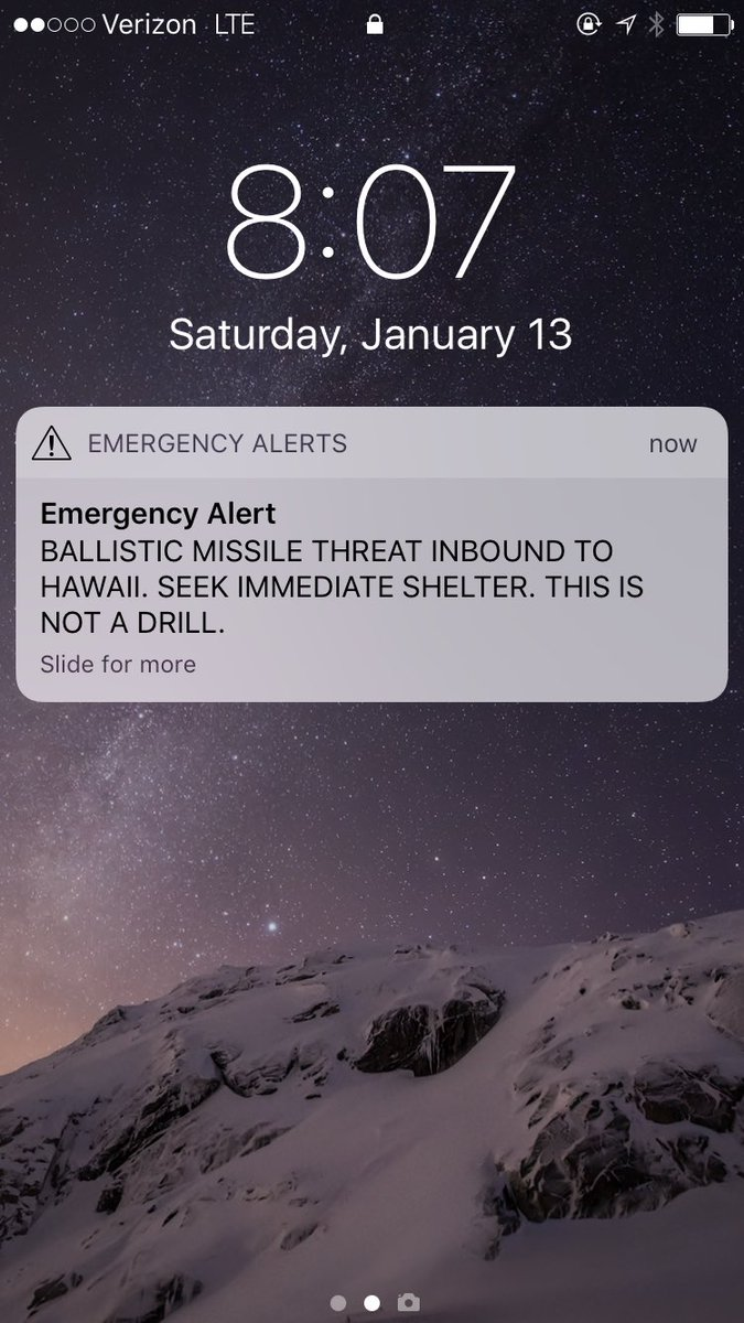 Hawaii wakes up to Critical Ballistic Missile In-Bound Threat !!!!!!!!!!!!!!!!!!!!!