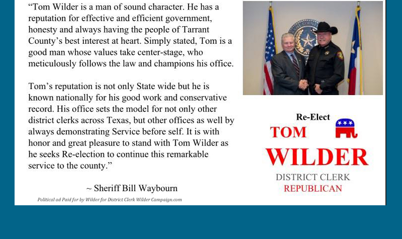 Wilder for Dist. Clerk