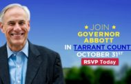 Gov. Abbott to Feature Get out the Vote in Ft. Worth Tomorrow.