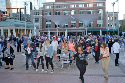 Le Freak had visitors of all ages dancing in Sundance Square Plaza