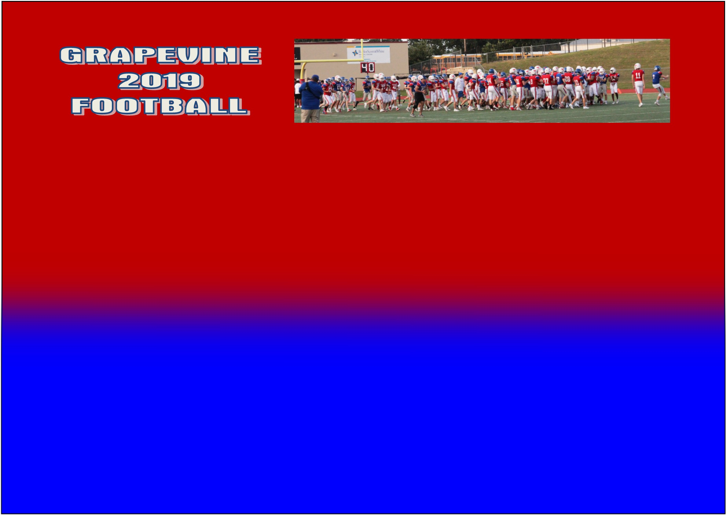 GCISD Football:  Grapevine Mustangs Finish Spring Practice with Games at Mustang-Panther Stadium