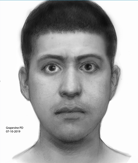 Grapevine Police are searching for a Hispanic man targeting females primarily along Mustang Drive.