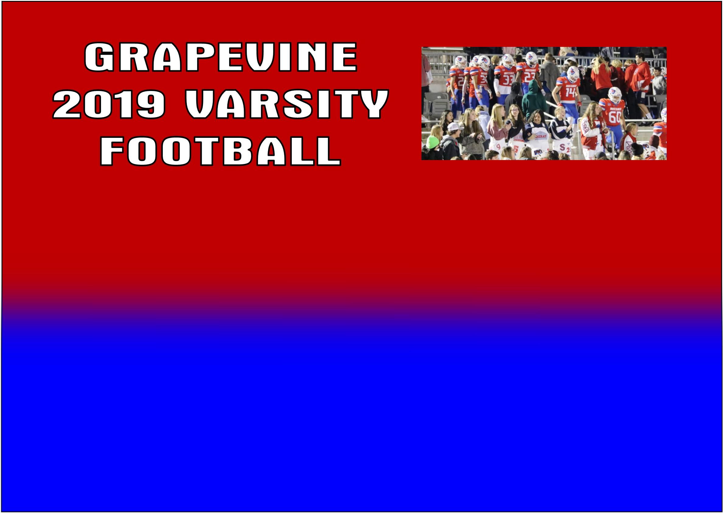 GCISD Football:  Grapevine Mustangs Trample Carrollton Turner Lions in Season Finale 77-0