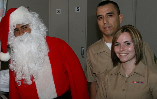 Santa and Veterans Hurst Parade