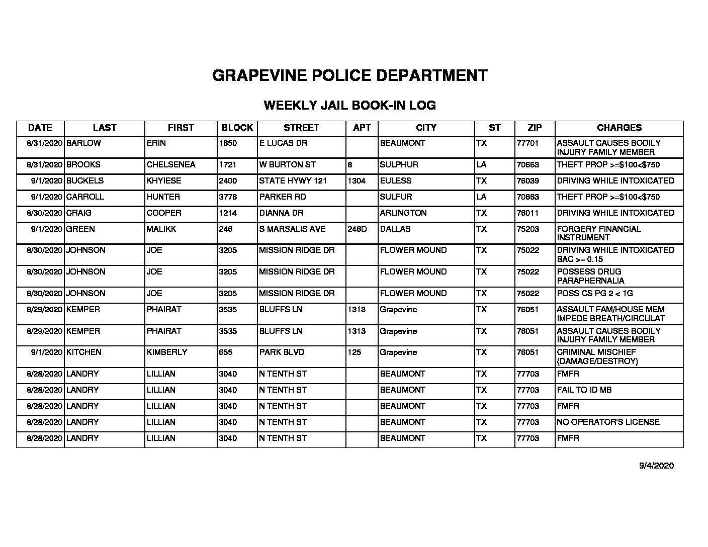 Grapevine 9-7-2020