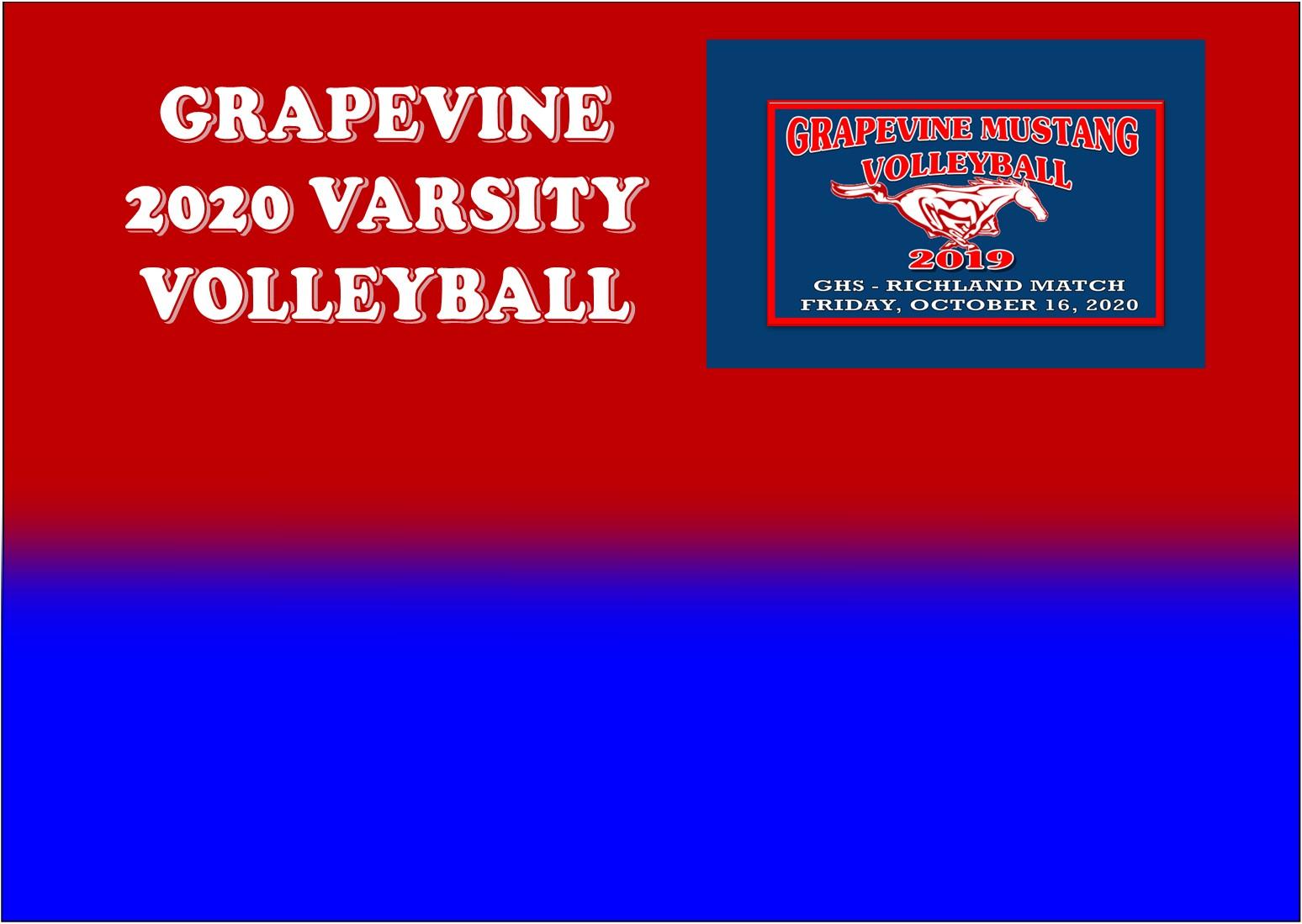 GCISD Volleyball: Grapevine Ladies Shutout Richland Ladies 3-0