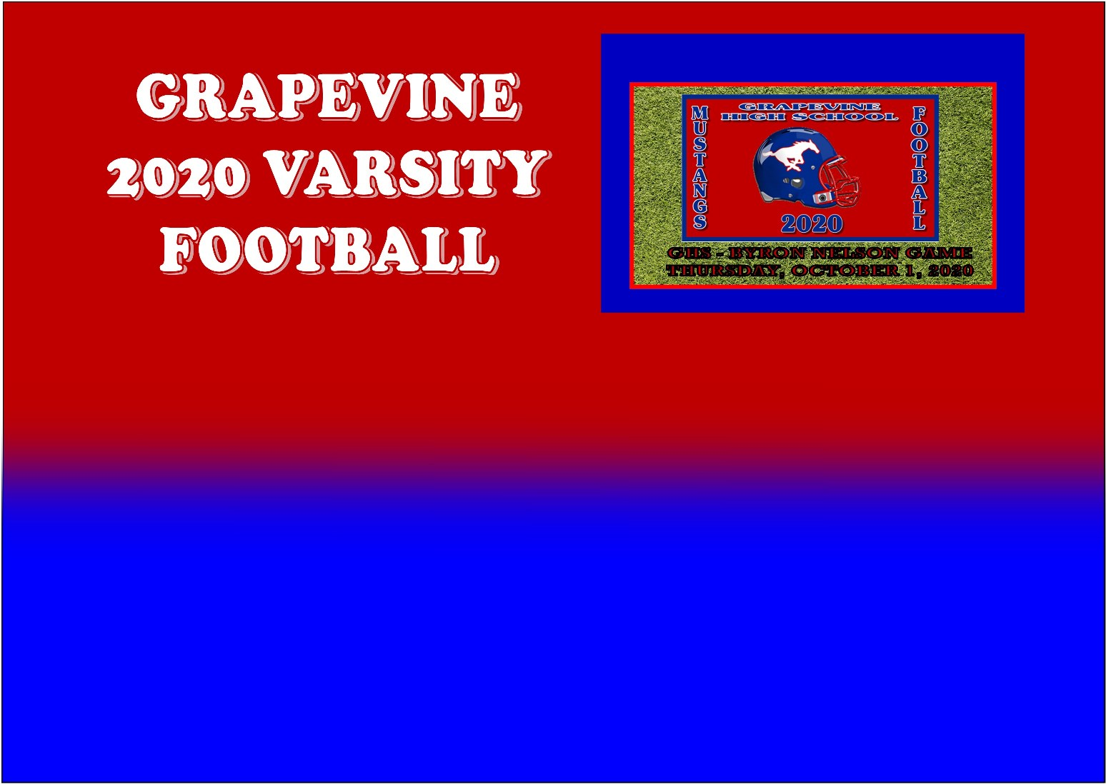 GCISD Football:  Grapevine Loses to Byron Nelson in Home Opener