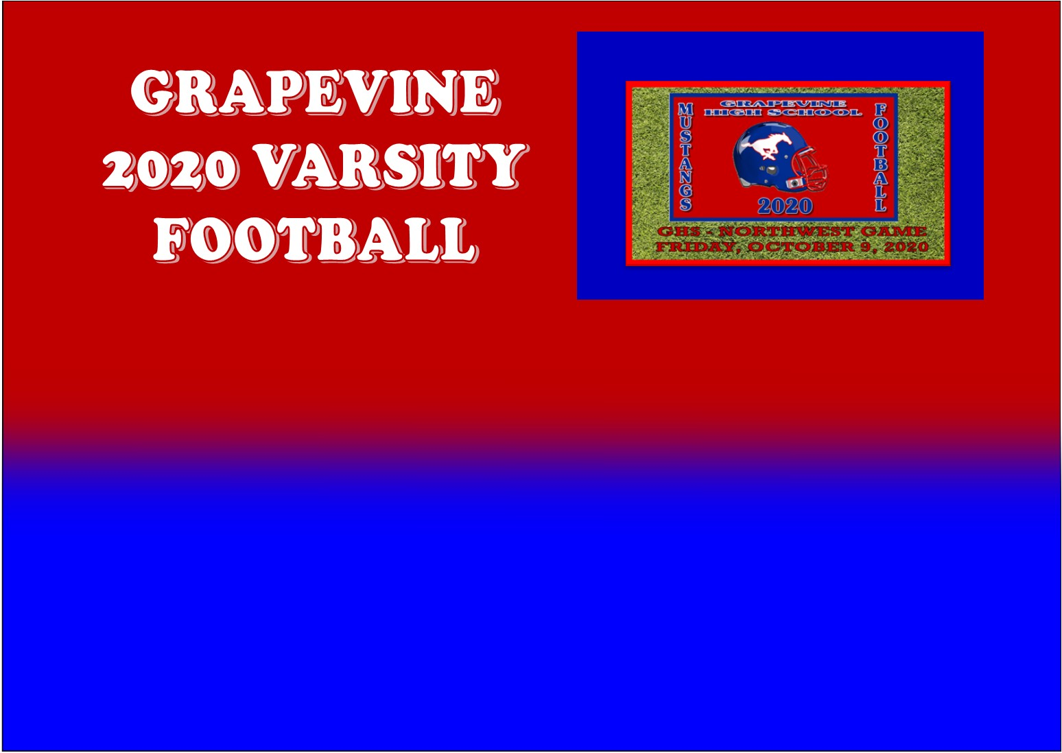 GCISD Football:  Grapevine Mustangs Best Northwest Texans At Home