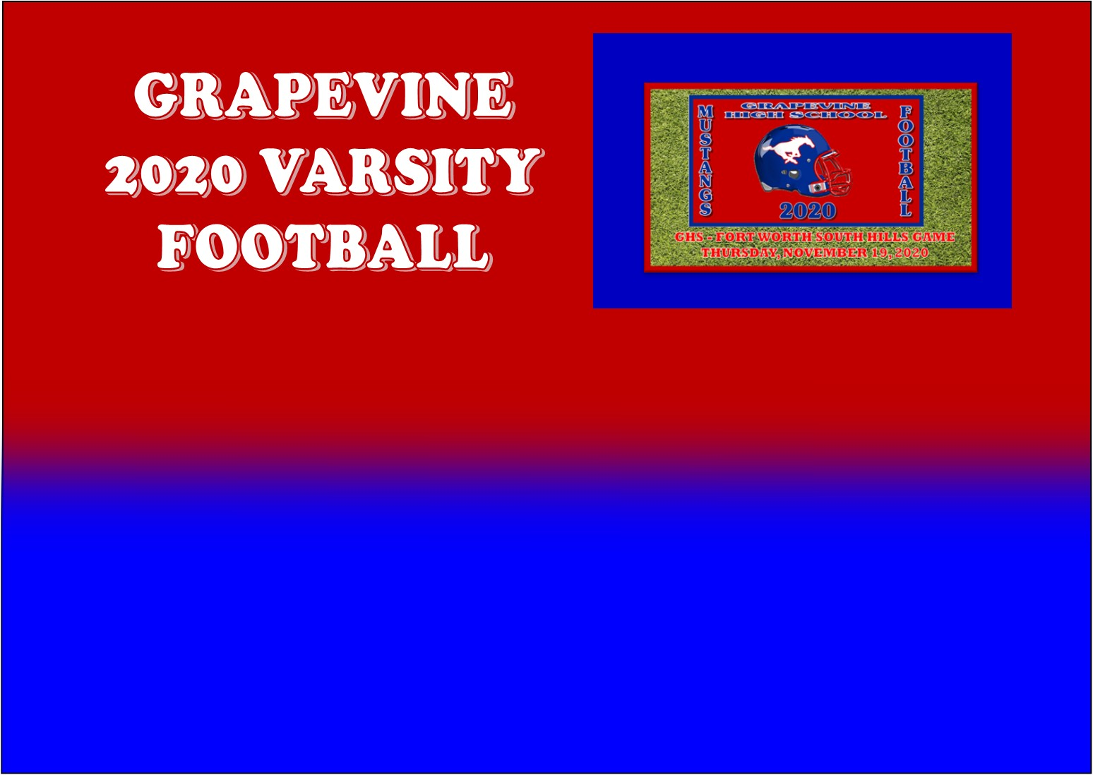 GCISD Football:  Grapevine Mustangs Hammer Fort Worth South Hills Scorpions 59-14