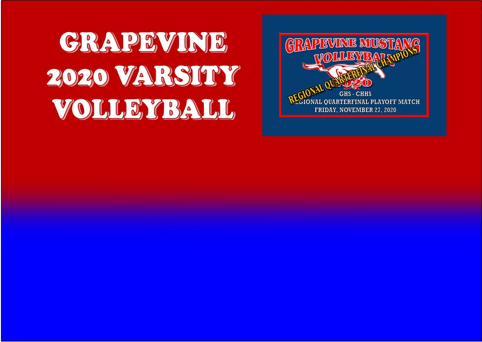 GCISD Volleyball: Grapevine Mustangs Get Big Regional Quarterfinal Playoff Win Over Colleyville Panthers