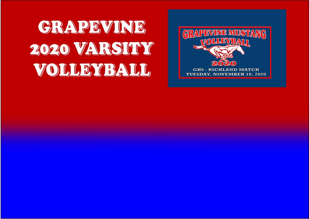 GCISD Volleyball: Grapevine Lady Mustangs Shut Down Richland Lady Royals 3-1