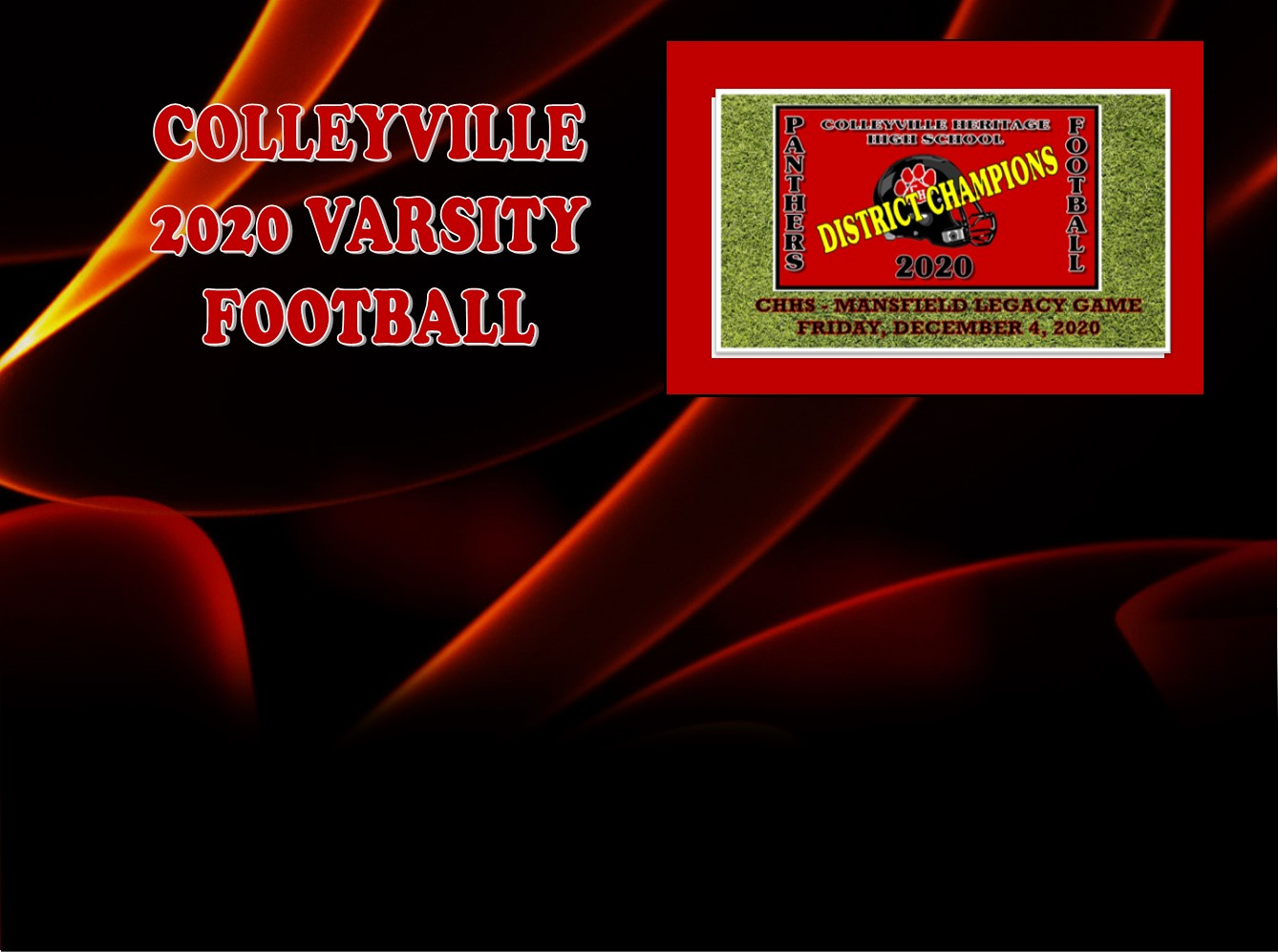 GCISD Football:  Colleyville Heritage Roll Past Mansfield Legacy Broncos to Win District Championship 31-2