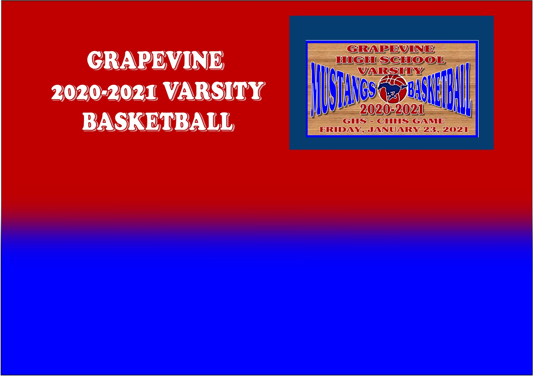 GCISD Basketball: Grapevine Mustangs Slip Past Rival Colleyville Panthers 55-53
