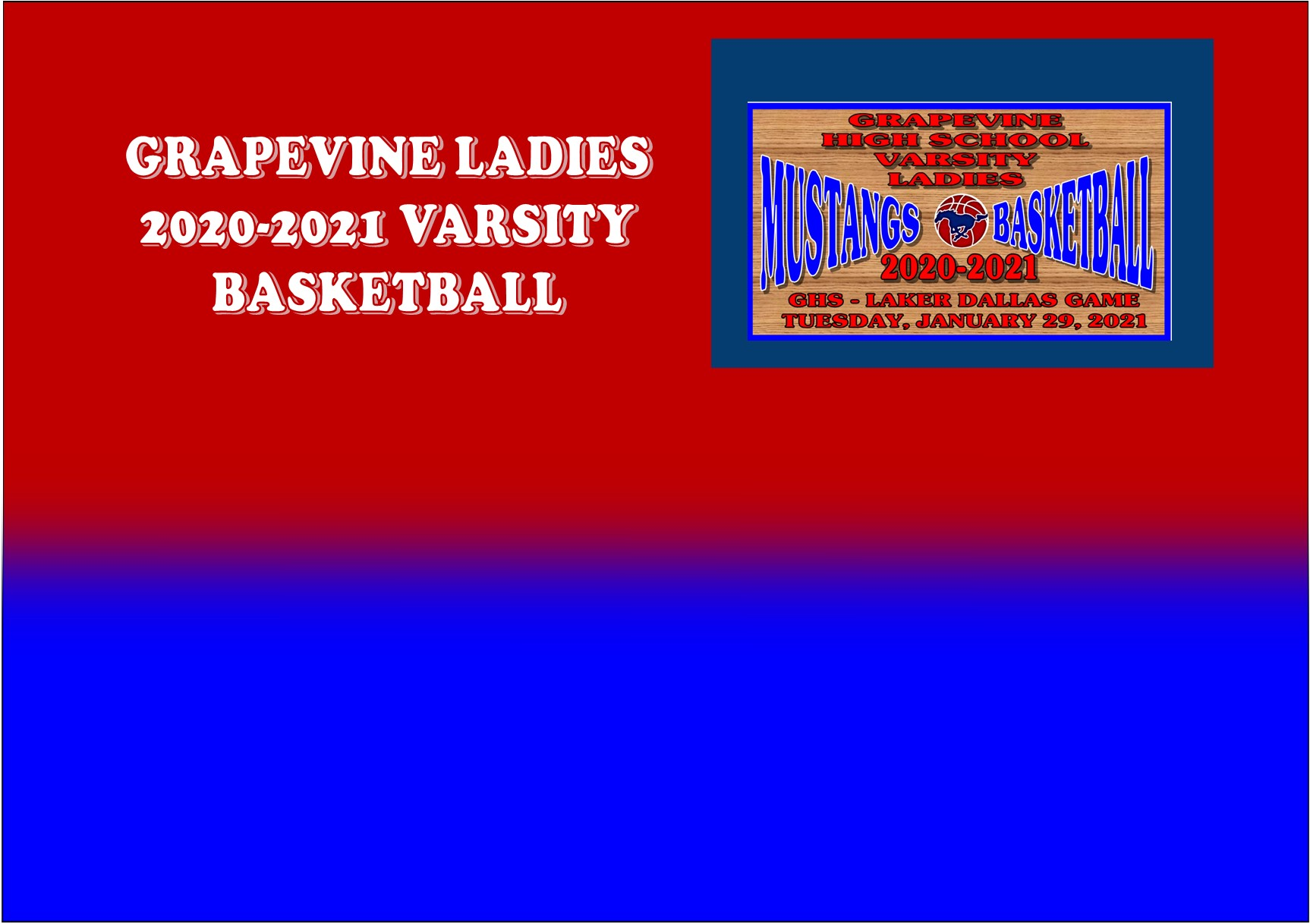 GCISD Ladies Basketball: Grapevine Mustangs Blasted By The Lake Dallas Falcons 44-59