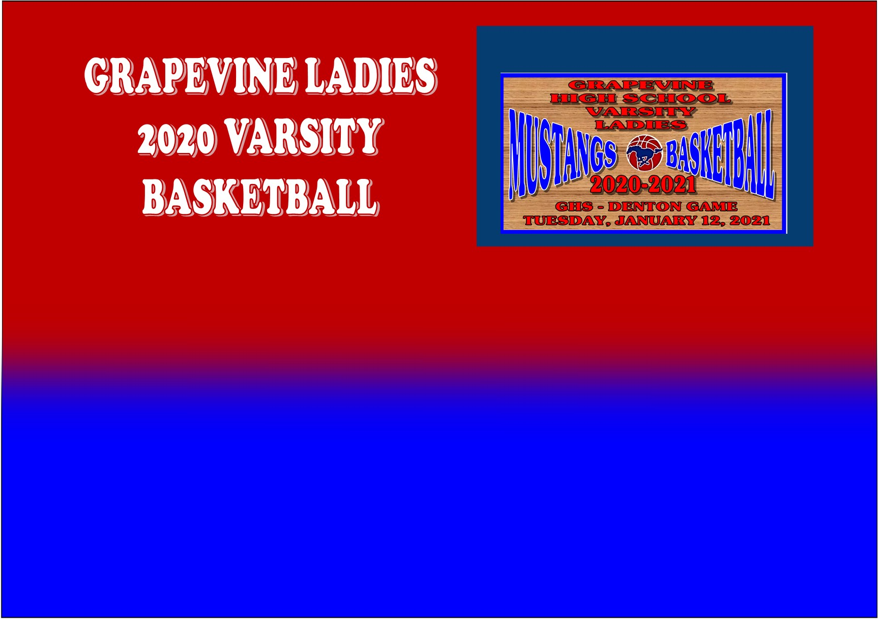 GCISD Ladies Basketball: Grapevine Mustangs Roll Over The Denton Broncos 44-21