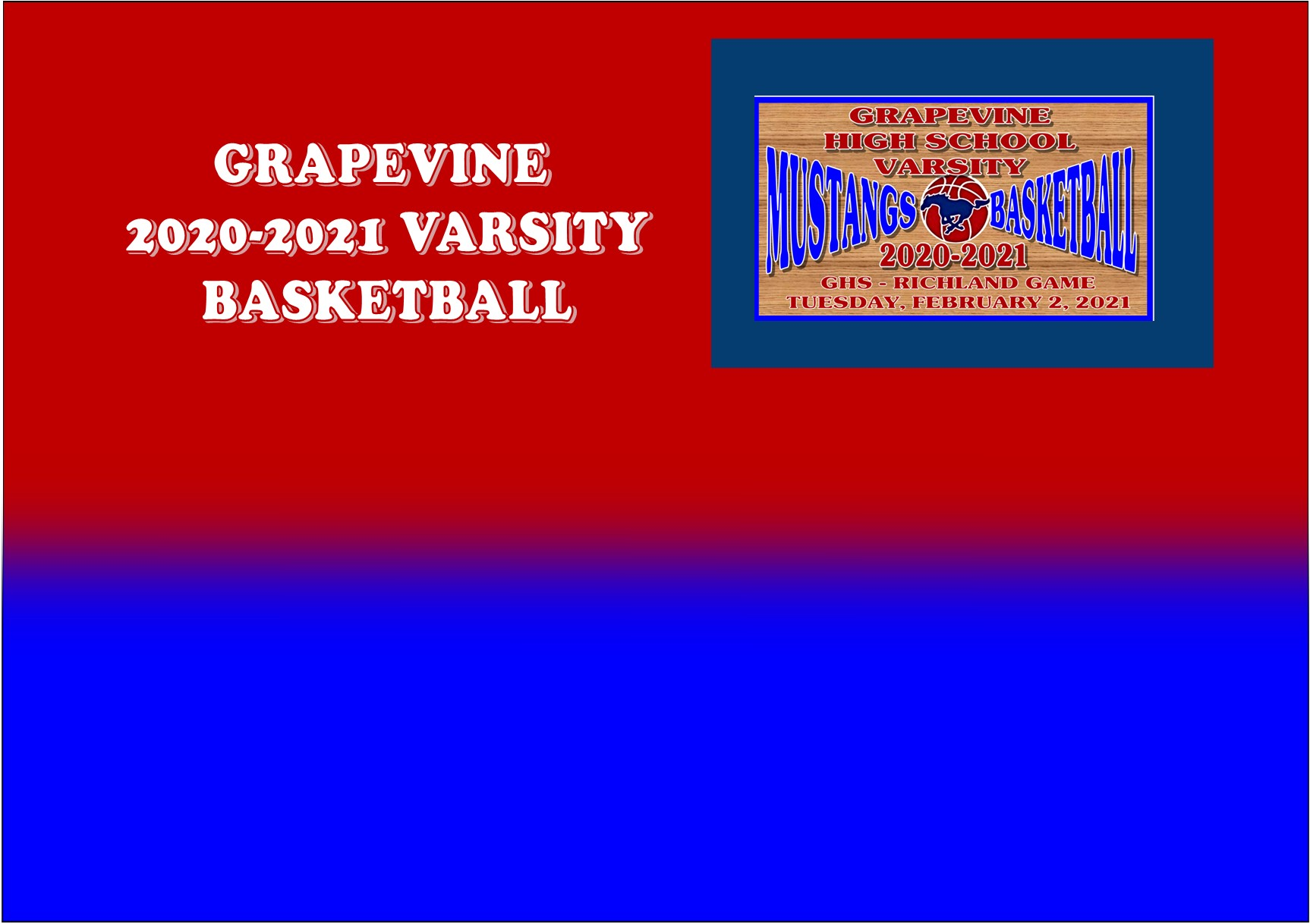 GCISD Basketball: Grapevine Mustangs Fall To 1st Place Richland Royals 42-57