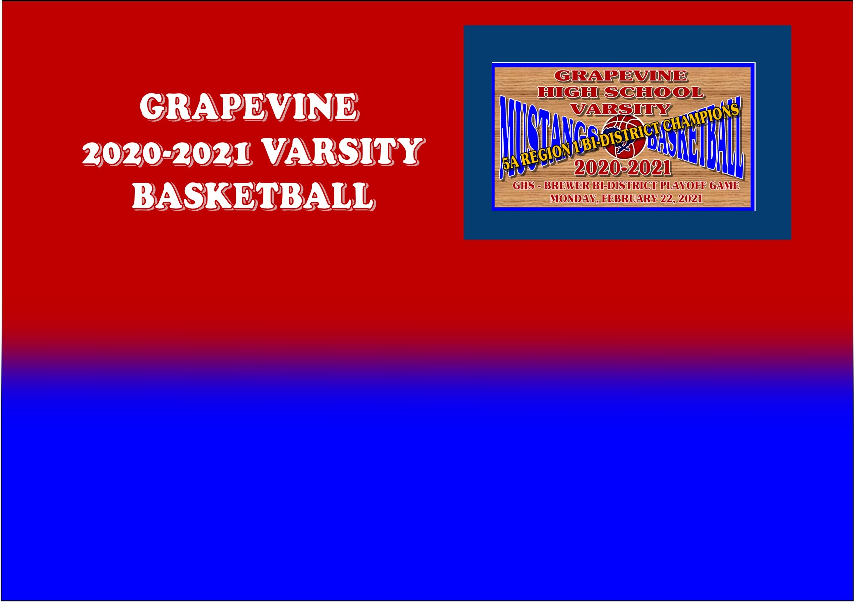 GCISD Basketball: Grapevine Mustangs Shock 1st Seed Brewer Bears 54-46