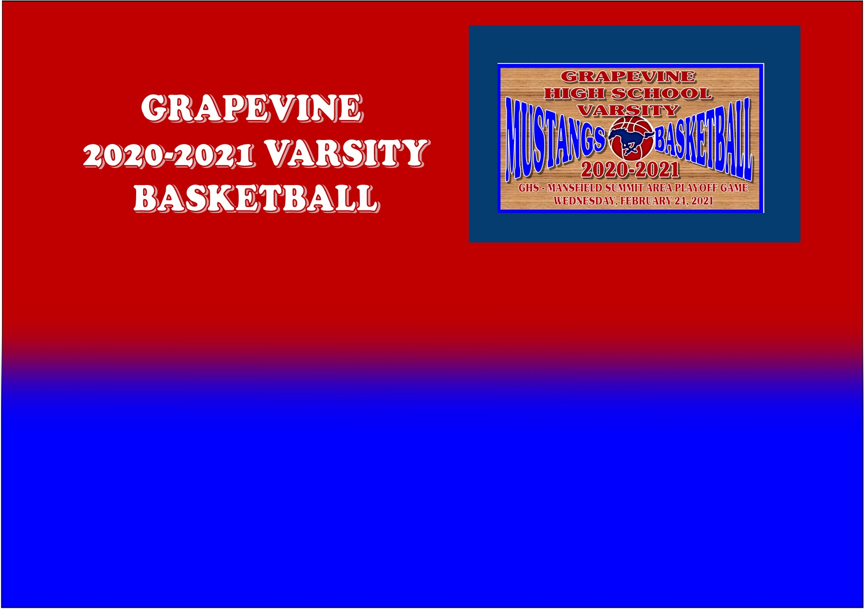 GCISD Basketball: Grapevine Mustangs End Playoffs with Loss to Mansfield Summit Jaguars 45-61