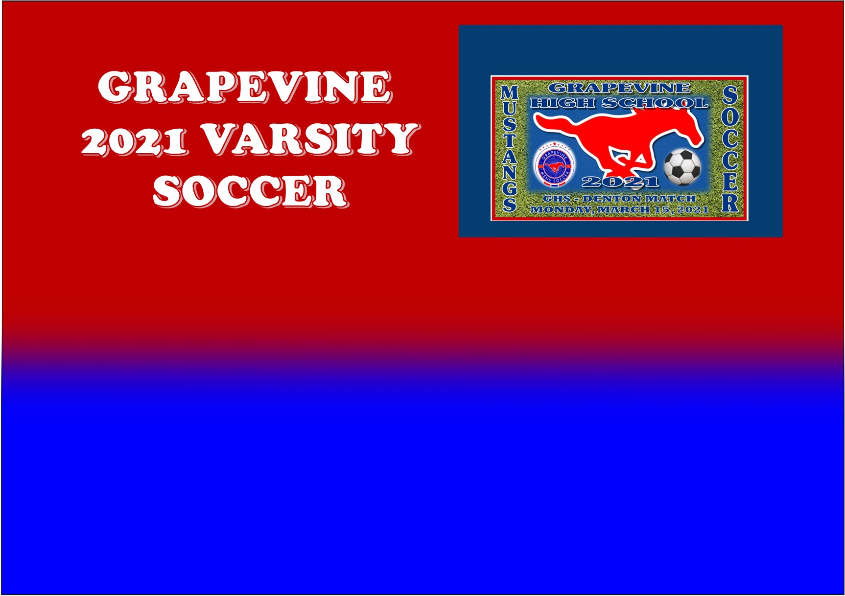 GCISD Soccer: Grapevine Mustangs Thump Denton Broncos 4-1