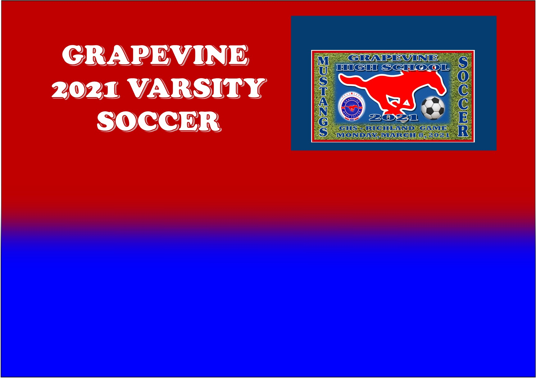 GCISD Soccer: Grapevine Mustangs Batter Richland Royals 6-0