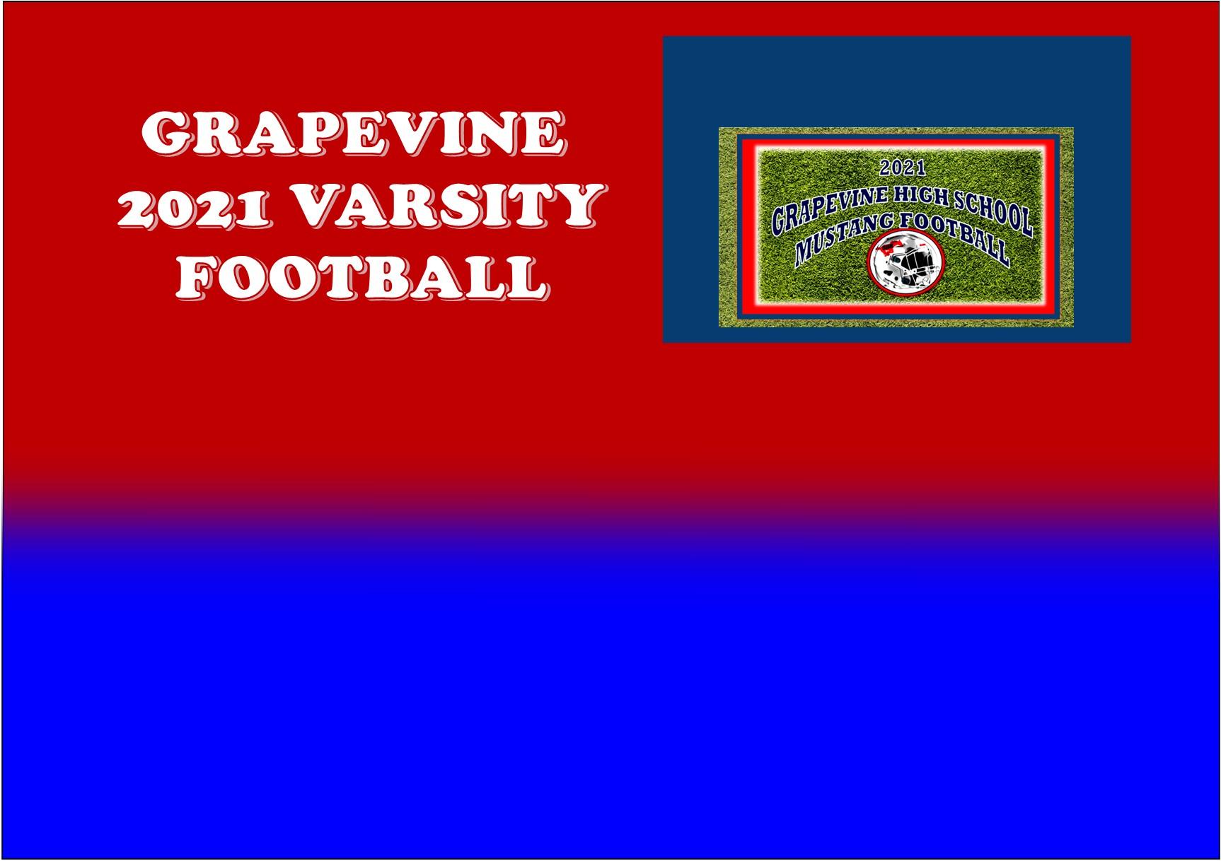 GCISD Football: Grapevine Mustangs Announce 2021 Varsity Football Schedule