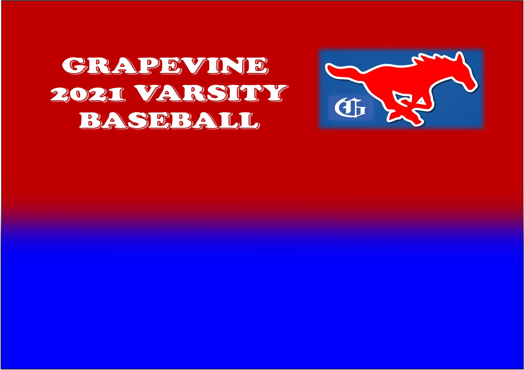 GCISD Baseball: Grapevine Mustangs Give Up 5 Run Lead and Lose to Lake Dallas Falcons at Home 8-5